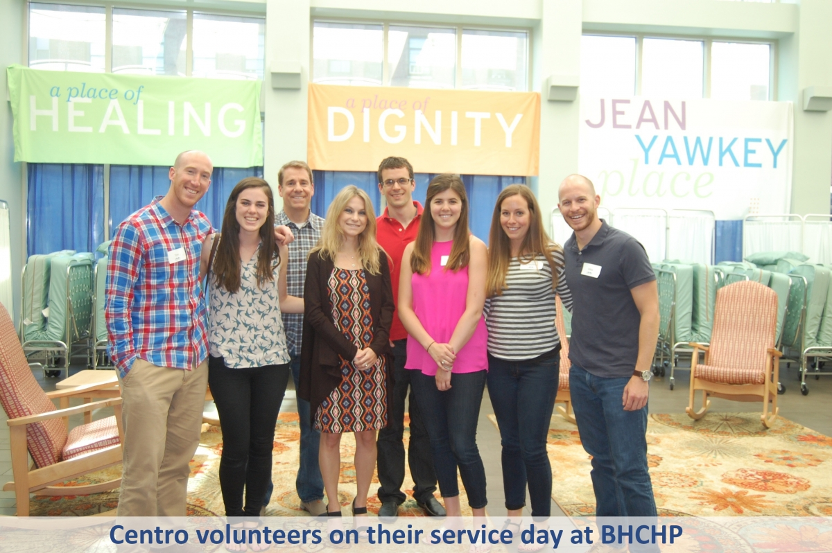 Centro volunteers on their service day at BHCHP