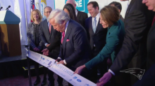 Patriots owner Robert Kraft CareZONE mobile health van ribbon cutting